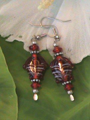 Red Lampwork Fish Bead
