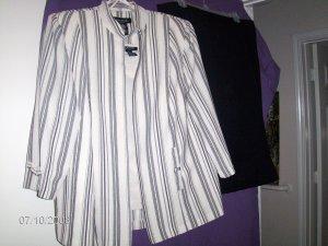 Grey & Black Women's Suit