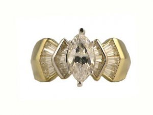 10K Gold Cubic Zirconia Ring