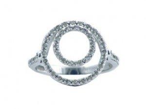 Women's Circles White Gold Diamond Ring