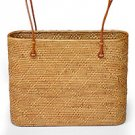 Ate and leather shoulder bag, 'Go Natural' 141470