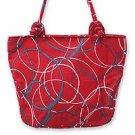 Cotton shoulder bag, 'Whimsical in Red' 162881
