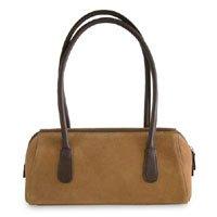 Leather handbag, 'Quiet Brown' 181488