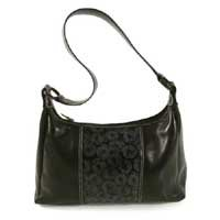 Leather handbag, 'Ebony Universe' 181490