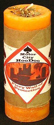 Fiery Wall of Protection Hoo Doo Candle