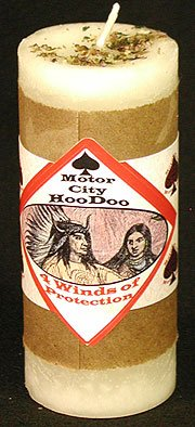 Four Winds of Protection Hoo Doo Candle