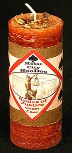 Scales of Justice Hoo Doo Candle