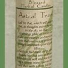 Astral Travel Blessed Herbal Candle