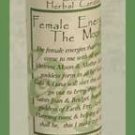 Female Energies (The Moon) Blessed Herbal Candle