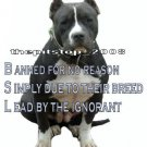 """Brand New Pitbull T-Shirt  """"BSL Banned for no Reason"""""""