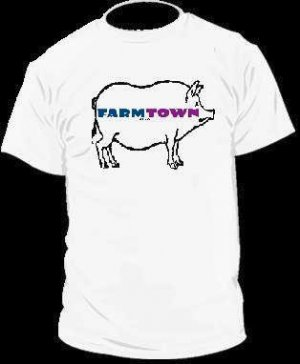Farm Town Pig T-Shirt Facebook Game