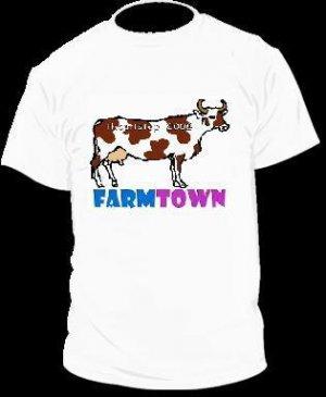 Farm Town Cow T-Shirt Facebook Game