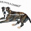"""Brand New Pitbull T-Shirt  """"Give Pits A Chance"""""""