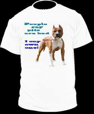 """Pit Bull T-Shirt """"People Say"""""""