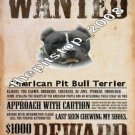 "Brand New Pitbull T-Shirt  ""Wanted/Reward Pit"""