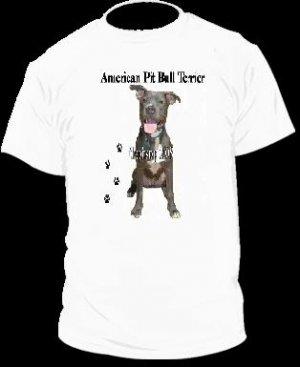"Brand New Pitbull T-Shirt  ""APBT PAW"""