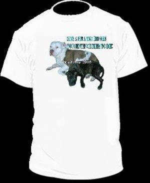 "Brand New Pitbull T-Shirt  ""Don't Sentence"""
