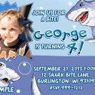Shark Invitation / Shark Birthday / Pool Party - PRINTABLE File