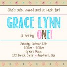 1st Birthday Invitation, Girl First Birthday Invite, Printable File