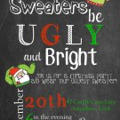 Ugly Sweater Christmas Party Invitations, Ugly Sweater Party