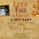 Autumn Baby Shower Invitation, Autumn Invitation