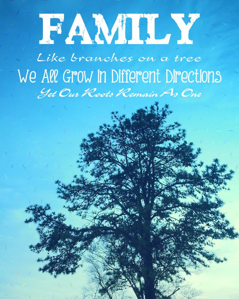 Digital  Wall Art, Family Tree, Printable Quote, Gift