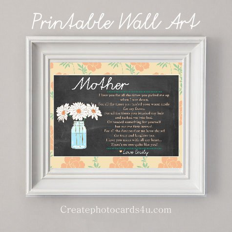 Mother - Printable Wall Art - Personalized, Gift, Birthday Gift, Mother's Gift, Grandmother's Gift