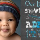 Little Snowflake 1st Birthday, Winter Birthday Party Invitations, Boys Chalkboard Invitation