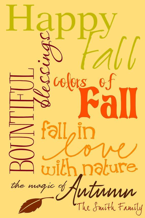 Subway Autumn Fall Digital Wall Art
