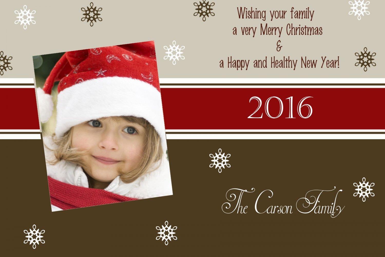 Photo Christmas Card, Christmas Greeting, DIY Christmas Cards