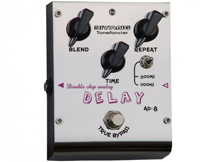 Free Shipping Biyang AD-8�Double chip Delay Pedal Guitar Effect Pedal
