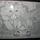 Fantasy Framed Pen & Ink