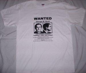 WANTED George W. Bush Adult Size XXL T-Shirt