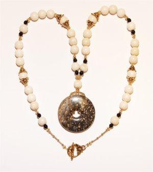Gemstone Donut Necklace