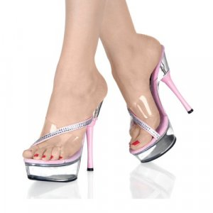 Women's Rhinestone Accented Shoes with Colored Heel