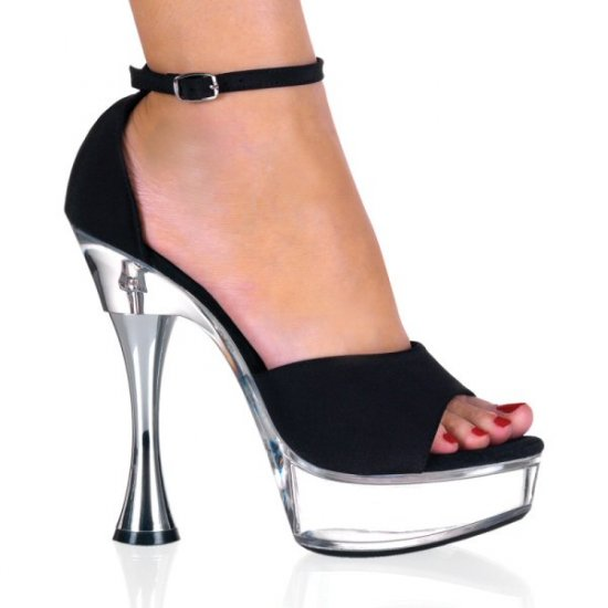 Women's Open Toed Cone Heel Platform Shoes with D'Orsay Style Cutouts