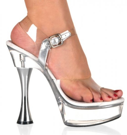 Women's Open Toed Cone Heel Platform Shoes with Ankle Strap