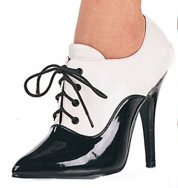 Women's Oxford Pump wit Lace Up Front