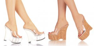 Runway  Women's Wedge Heel Shoes with Clear Strap