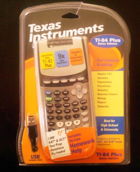 Texas Instruments Graphic Calculator TI-84 Plus Silver Edition