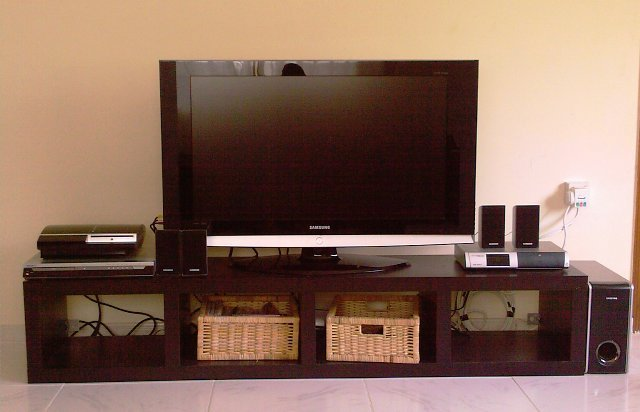 Ikea Expedit Bench Shelves - Black/Brown