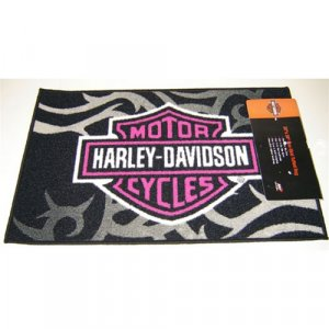 Harley Davidson Tufted Rug - Pink