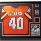 CHICAGO BEARS GALE SAYERS SIGNED FRAMED JERSEY