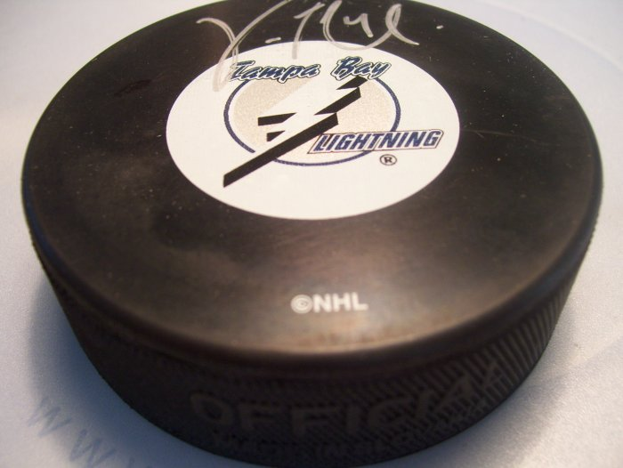 Vincent LeCavalier Autographed SIGNED Tampa Bay  Lightning Game Model HOCKEY PUCK - STEINER SPORTS