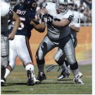 BARRET ROBBINS signed autographed RAIDERS 8x10 photo IP 5.19.13