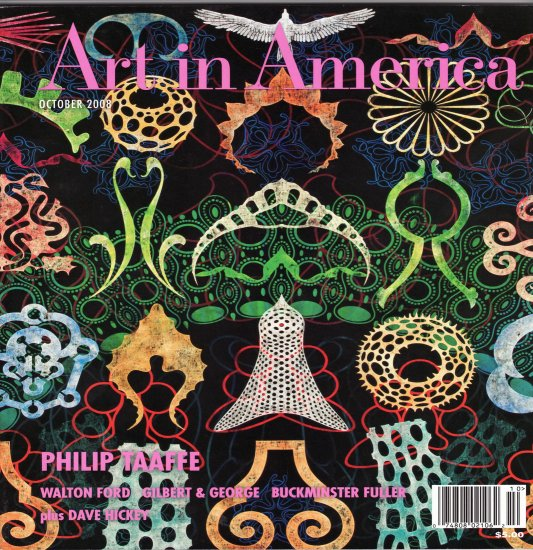 ART IN AMERICA Magazine Back Issue Philip Taaffe Gilbert and George October 2008