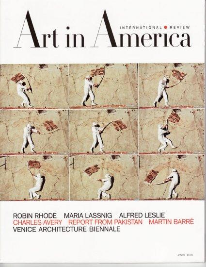 ART IN AMERICA  International Review Magazine Robin Rhode January 2009 Back Issue