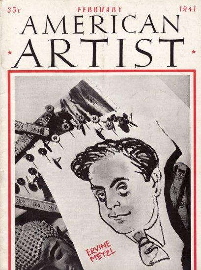 AMERICAN ARTIST Magazine February 1941 Watson-Guptil Publication Magazine Back Issue