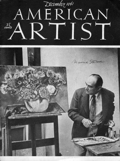 AMERICAN ARTIST December 1941 Watson-Guptil Publication Magazine Back Issue