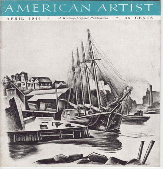 AMERICAN ARTIST Magazine April 1944 Watson-Guptil Publication Magazine Back Issue